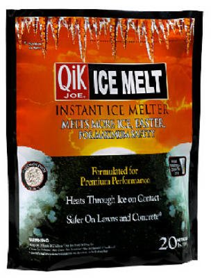 Melter Ice Milazzo (Qik Joe Ice Melter Bag Calcium Chloride Pellets Down To - 25 F 20 Lbs.)