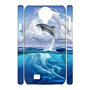 DIY High Quality Case for SamSung Galaxy S4 I9500 3D, Dolphins Phone Case - HL-R680763