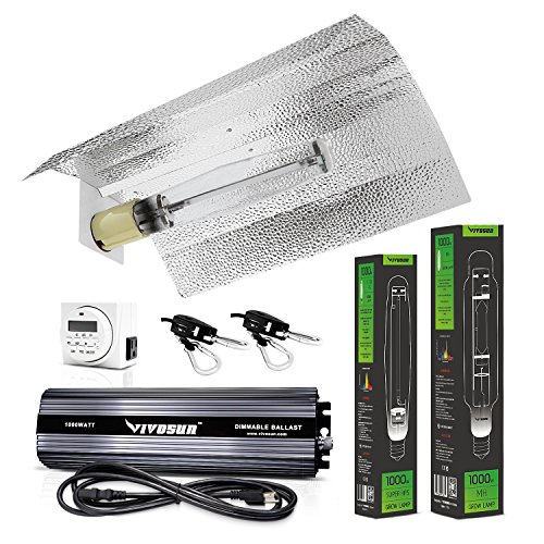 (VIVOSUN Hydroponic 1000 Watt HPS MH Grow Light Wing Reflector Kit - Easy to Set up, High Stability & Compatibility (Enhanced Version))