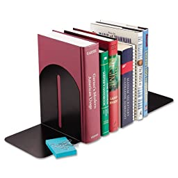 STEELMASTER Fashion Steel Bookends, 1 Pair, 5.9 x 7 x 5 Inches, Black (241017104)
