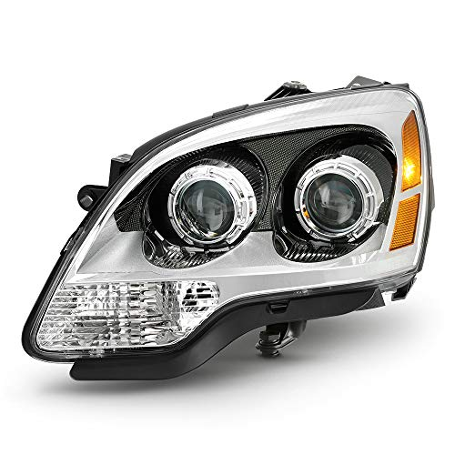ACANII - For 2008-2012 GMC Acadia Chrome Housing 2nd Design Projector Headlight Headlamp Assembly Left Driver Side ()