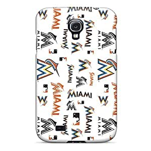 Series Skin For Ipod Touch 4 Case Cover (miami Marlins)
