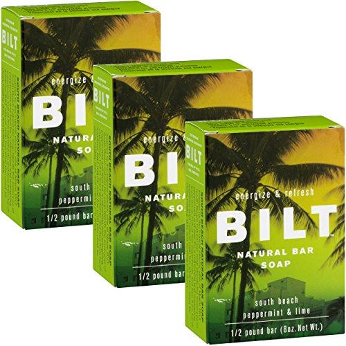 Mint 8 Ounce Bar - BILT Natural Bar Soap for Men 8 oz, South Beach