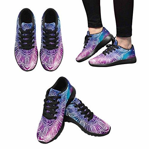 InterestPrint Kaleidoscope Print Womens Jogging Running Sneaker Lightweight Go Easy Walking Shoes Multi 1 GSzJlAKL1
