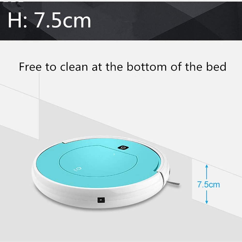 ZUEN Aspirateur Robot de Balayage Intelligent Télécommande Rechargeable Balayage à Grande Aspiration Essuyage à Sec par Voie Humide Balayage à la Maison Blue
