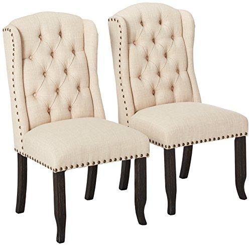 24/7 Shop at Home 247SHOPATHOME IDF-3324BK-SC Dining-Chairs, Antique Black