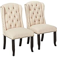 247SHOPATHOME IDF-3324BK-SC Dining-Chairs, Antique Black