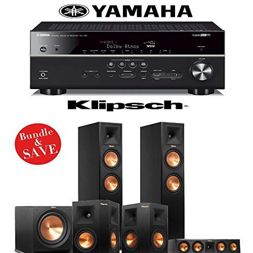 Klipsch rp 260f reference premiere 5 1 home theater system for Yamaha 7 2 home theatre system