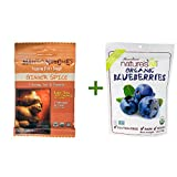 Matt's Munchies Premium Fruit Snack Ginger Spice -- 1 oz, ( 7 PACK ), Nature's All Foods Organic Freeze-Dried Raw Blueberries -- 1.2 oz