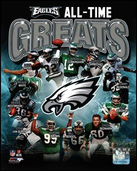 Philadelphia Eagles All Time Greats Composite Art Poster Print Unknown