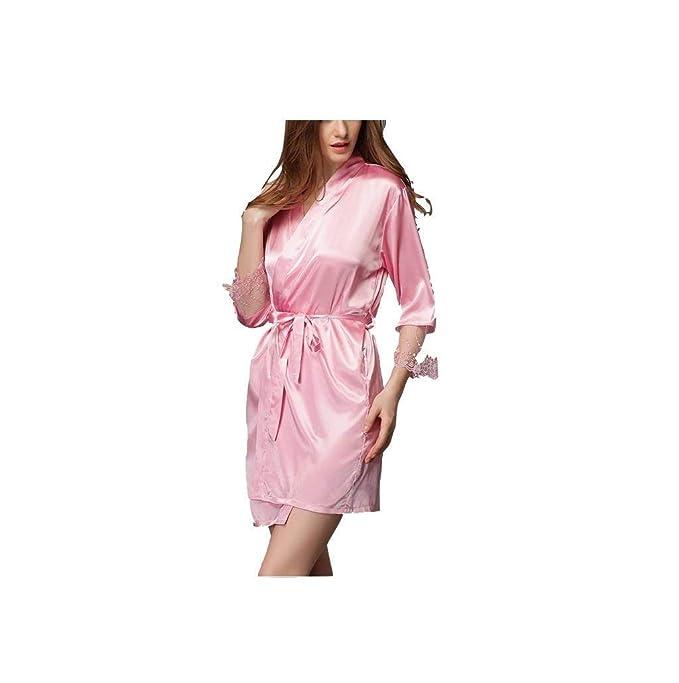 Vestido De Pijama De Manga Vintage Corta Manga con Larga para ...