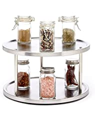 Saganizer 2 Tier Lazy Susan Turntable 360 Degree Lazy Susan Organizer Use For A Spice Organizer Or Kitchen Cabinet Organizers Stain Resistant
