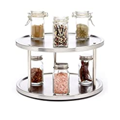 Kitchen Sagler 2 Tier lazy susan turntable 360-degree lazy susan organizer use for a spice organizer or kitchen cabinet… lazy susans