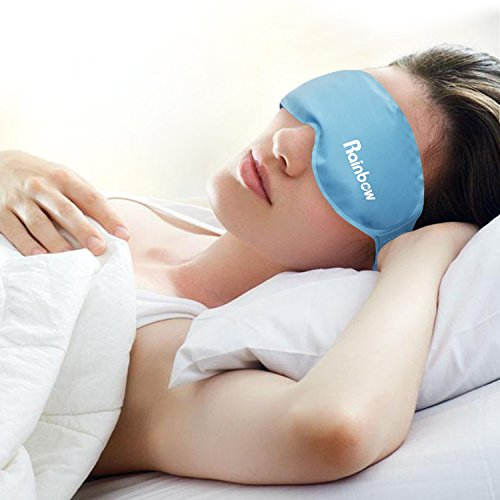Cooling Gel Eye Mask Cold Pads for Puffy Eyes, Hot & Cold Therapy for Migraine Headache Relief, Reduces Dark Circles and Dry Eye, Treats Allergies, - Ice And Fire Mask