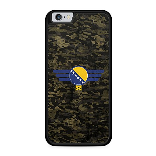 Bosna Bosnien Camouflage - Hülle für iPhone 6 Plus & 6s Plus SILIKON Handyhülle Case Cover Schutzhülle - Bedruckte Flagge Flag Bosna Military Militär