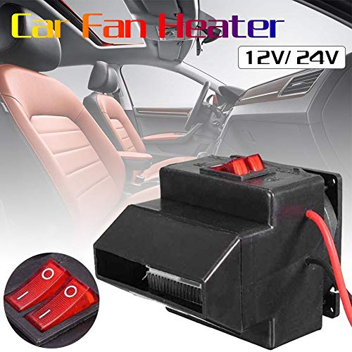 Liuxi 12V/24V Portable Car Ceramic Heater Fan Vehicle Heater: