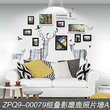 XK.DARLY Wand Home Decor DIY Kreative Rechteck Bilderrahmen DIY Aufhänger  Papier Bilderrahmen Set