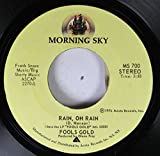 Morning Sky 45 RPM RAIN, OH RAIN / FOOLS GOLD