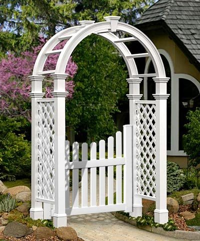 BestNest New England Nantucket Legacy Arbor with Trim and Gate