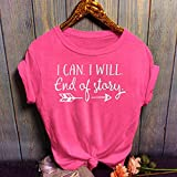 KESEELY Women Fashion Casual O-Neck Letter Print
