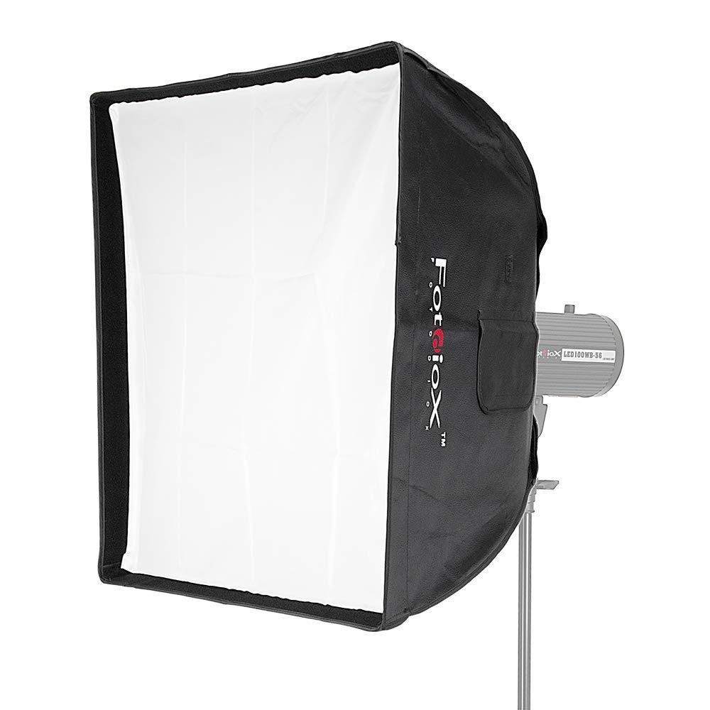 Fotodiox 10SBXBC-I2424 Proソフトボックス、Broncolor(インパクト)およびVisatecストロボライト用スピードリング付き24 x 24インチ、ソフトボックスおよびスピードリング   B003EWKFL0