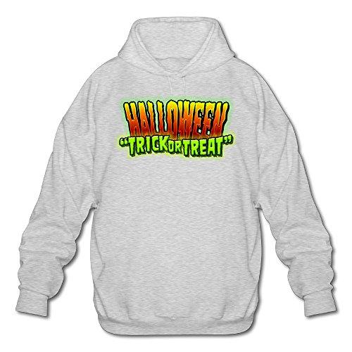 MARC Men's Halloween Hooded Sweatshirt Ash Size XL