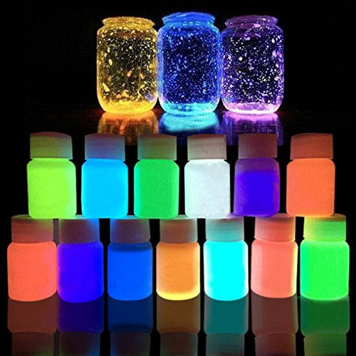 Glow in the Dark Paint Luminous Paint Acrylic Bright Pigment Party Decoration DIY 20g By Makaor (Wight:20g, C)