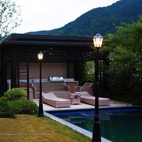 SHAOYH Europea jardín luces luces del paisaje al aire libre retro casera LED de alta Polo Jardín Farola impermeable al aire libre de la lámpara de la calle Villa Jardín Comunidad alta