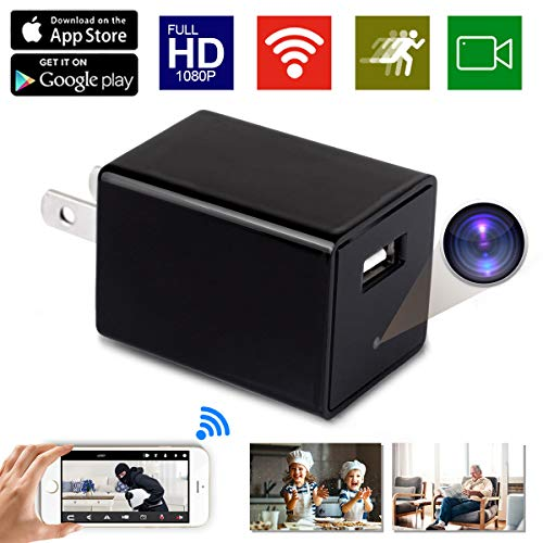 Spy Camera Wireless Hidden ZXWDDP HD WiFi USB Wall Charger 1080P Nanny Cam Baby Pet Monitor Camera with Motion Detection/Loop Recording/Indoor Security Surveillance Camera Support iOS/Android