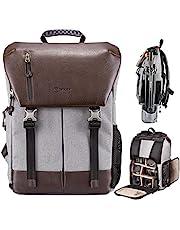 TARION Wodoszczelny plecak na aparat fotograficzny, na lustrzanki, z certyfikatem ochrony: IPX5, plecak z osłoną przeciwdeszczową, dla kobiet i mężczyzn