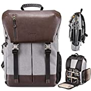 TARION Camera Backpack Waterproof Camera Bag Waterproof Certified IPX5 Large Capacity Side Access with 15.6 Inch Laptop…