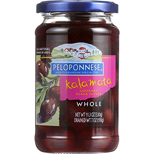 Peloponese Olives - Kalamata - Whole - 7 oz - case of 6 by Peloponese