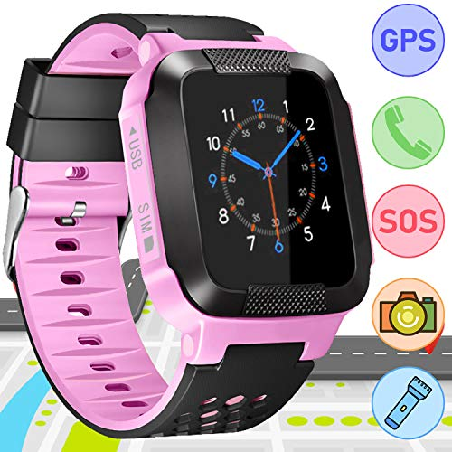 Kids Electronic Learning Toys,Back to School Gifts Smart Watch Phone for Boys Girls Students,Digital Wrist Watch with Touch Screen Voice Chat Two-Way Call SOS for Age 3-12 Girls Boys Birthday Gift