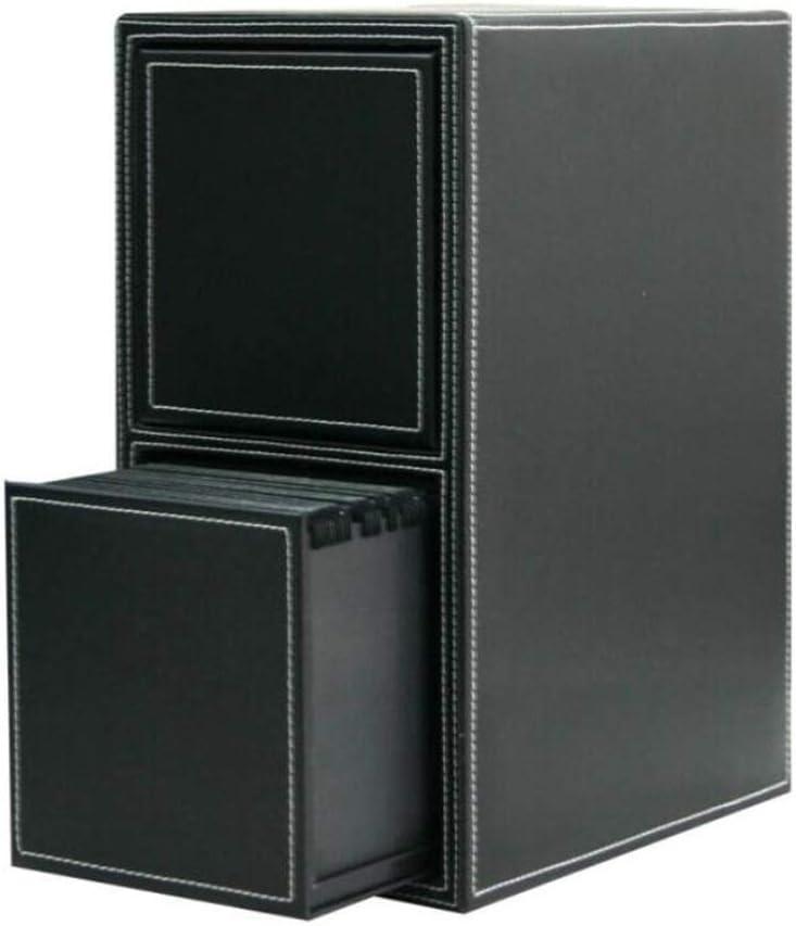 Jcnfa-Estante Caja del CD De Cuero, con La Apertura Magnético Potente, CD Bandeja Tiene Capacidad For 100/200 Cajas De CD, For Mediateca Almacenamiento Y Organización