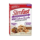 SlimFast Advanced Nutrition 100 Calorie Snacks, Drizzled Crisps, Cinnamon Bun Swirl, 1oz 5 Bags,(Pack of 2)