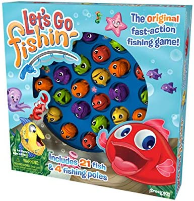 toys, games, games, accessories,  board games 8 image Let's Go Fishin' Game by Pressman - The in USA