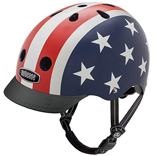 Nutcase - Patterned Street Bike Helmet for Adults, Stars & Stripes, Medium