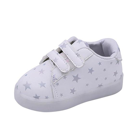 Zapatos Niños LED, ❤ Manadlian Luz Luminosas Flash Zapatos Zapatillas de Deporte Zapatos de Bebé Antideslizante Zapatillas con Luces para Niñas Niños: ...