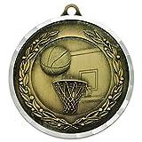 Basketball Award Sports Bulk Medal - Gold
