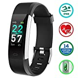 Fitness Tracker, KUNGIX Activity Tracker Fitness Watch IP68 Waterproof with Heart Rate Monitor
