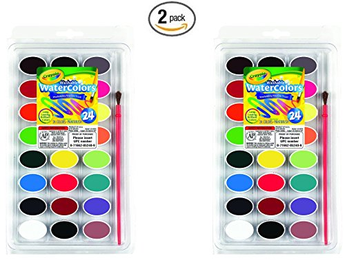 Crayola Washable Watercolors count 53 0524