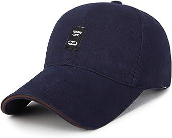 LDDENDP Gorra de béisbol negra clásica Velcro ajustable Hombres y ...