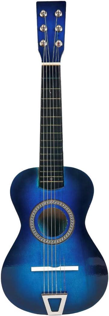 MRKE Ukelele Principiantes Guitarra Niño 23 Pulgada 6 Cuerdas Juguete de Instrumentos Musicales para Infantil Niño y Niña 3-8 Años (Azul)