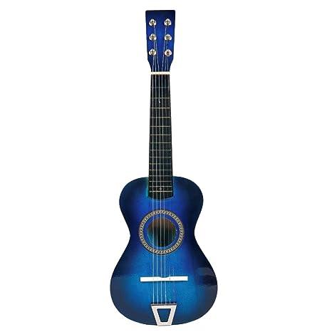 Riva776Yale 6 Cuerdas Simulación Guitarra Infantil Educación temprana Instrumento musical Guitarra de juguete para principiantes -