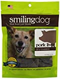 Herbsmith Smiling Dog Dry Roasted Pork Liver Treats for Dogs and Cats, 3-Ounce