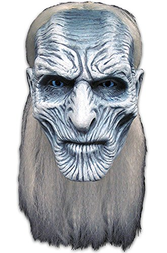 Trick or Treat Studios Men's Game of Thrones-White Walker Mask, Multi, One Size