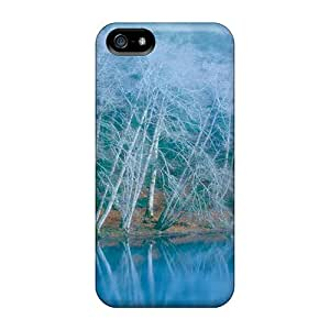 Tpu Fashionable Design Blue Winter Rugged Case Cover For Iphone 5/5s New