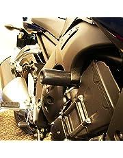 2011-2013 Yamaha FZ8 Black No Cut Frame Sliders - 750-6389 - MADE IN THE USA