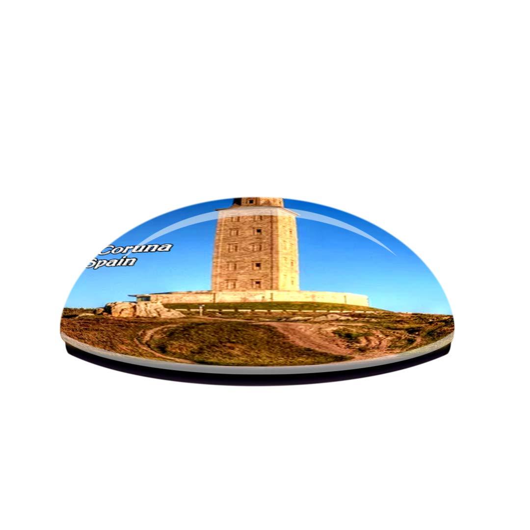 Weekino España Hércules Torre La Coruña Imán de Nevera 3D de ...