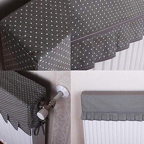 Radiatore Size : 40 * 10 Parapolvere per Uso Domestico Panno Nero A Pois Neri Semplice Copertura del Radiatore in Pizzo LXJJDGF Parapolvere per Radiatore Fumo Decorativo